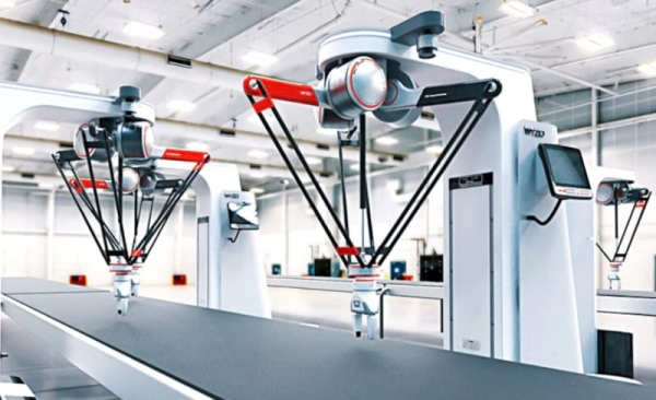 """El sidebot de Wyzo es un robot delta con un diseño colaborativo pensado para aplicación de pick and place de forma colaborativa y """"segura"""""""